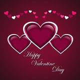 Stylish Valentines Day Background Royalty Free Stock Photography