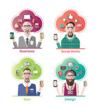Stylish various company positions vector Stock Images