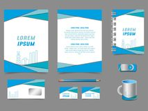 Stylish vector colorful modern graphic corporate identity design vector illustration