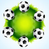 Stylish vector football Royalty Free Stock Image