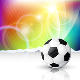 Stylish vector football Royalty Free Stock Photos