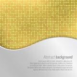 Stylish vector gold abstract background. With tiny squares and metal wavy design Royalty Free Stock Images