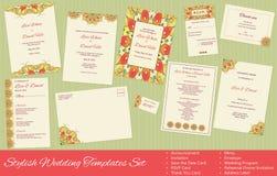 Stylish, Vector Wedding Templates Set Stock Image
