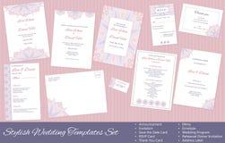 Stylish, Vector Wedding Templates Set Stock Photos