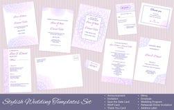 Stylish, Vector Wedding Templates Set Royalty Free Stock Images