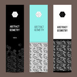 Stylish vertical banners Stock Images
