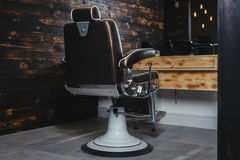 Stylish Vintage Barber Chair Royalty Free Stock Photos