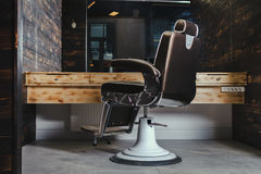 Stylish Vintage Barber Chair Royalty Free Stock Photography
