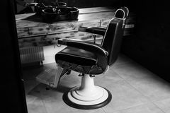 Stylish Vintage Barber Chair Stock Photography