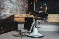 Stylish Vintage Barber Chair Royalty Free Stock Photo
