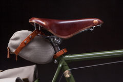 Stylish vintage bicycle saddle Royalty Free Stock Images