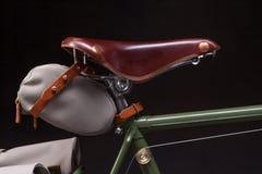 Stylish vintage bicycle saddle Royalty Free Stock Images