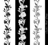 Stylish vintage floral seamless border. EPS10 vector illustration. Contains transparency Stock Photography