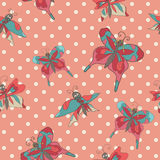Stylish Vintage floral seamless pattern with butterflies Doodles Royalty Free Stock Photo