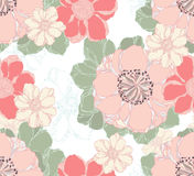 Stylish vintage floral seamless pattern. Royalty Free Stock Photography