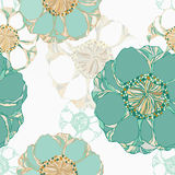 Stylish vintage floral seamless pattern. Stock Photo