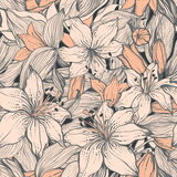 Stylish vintage floral seamless pattern. EPS8. Contains no transparency and gradients Stock Photos