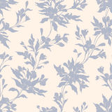 Stylish vintage floral seamless pattern. EPS10 vector illustration. Contains transparency Royalty Free Stock Photo