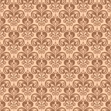 Stylish vintage floral seamless pattern, Victorian style vector Royalty Free Stock Photos