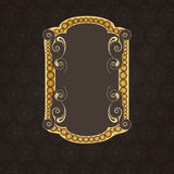 Stylish vintage frame decorated by floral design. Royalty Free Stock Images