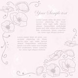 Stylish Vintage Invitation card Stock Photography