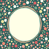 Stylish vintage polka dot texture Royalty Free Stock Photos