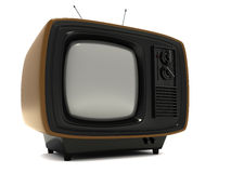Stylish Vintage Television. Stylish retro TV with blank screen Royalty Free Stock Photography