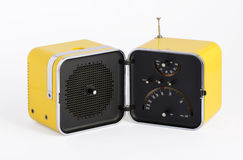 Stylish vintage yellow transistor radio Stock Photo