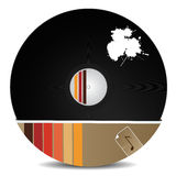Stylish vinyl record Stock Images