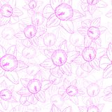 Seamless pattern with flowers on a white background vector illustration