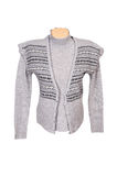 Stylish warm waistcoat and sweater on a white Royalty Free Stock Photo