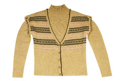 Stylish  warm waistcoat and sweater on a white. Royalty Free Stock Photography