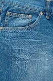 Stylish washed blue jeans. Close up Stock Image