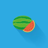 Stylish Watermelon Isolated On Blue Background Royalty Free Stock Photography