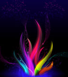 Stylish wavy flame - Colorful elegant abstract background. Royalty Free Stock Photography