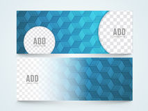 Stylish website header or banner set. Creative stylish abstract website header or banner set with space for your images Royalty Free Stock Photos