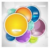 Stylish website template or portfolio layout Stock Photos