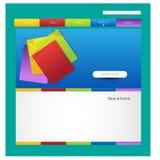 Stylish website template or portfolio layout Royalty Free Stock Photos