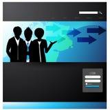 Stylish website template - portfolio layout Stock Images