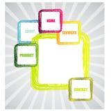 Stylish website template - portfolio layout Stock Image