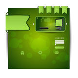 Stylish website template - portfolio layout Royalty Free Stock Photography
