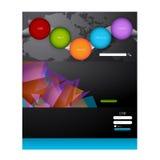 Stylish website template - portfolio layout Royalty Free Stock Photos