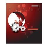 Stylish website template - portfolio layout Royalty Free Stock Image