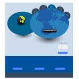 Stylish website template - portfolio layout Royalty Free Stock Images