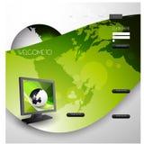 Stylish website template - portfolio layout Royalty Free Stock Photo