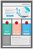 Stylish website template - portfolio layout Stock Photo