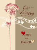 Stylish wedding invitation card Stock Photo