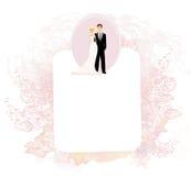 Stylish wedding invitation card Stock Photo