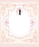 Stylish wedding invitation card Royalty Free Stock Photography