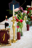 Stylish wedding table decoration Royalty Free Stock Photos